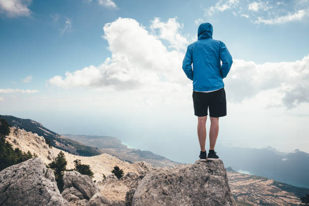 on the top of mount aenos in kefalonia - borchee stock pictures, royalty-free photos & images