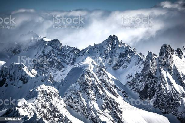 Photo of on the top of the swiss alps mountain range