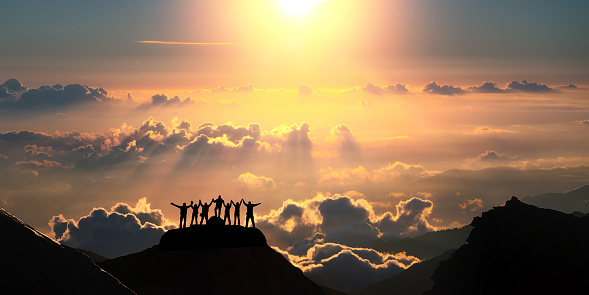 istock On the top of the world together 488870098