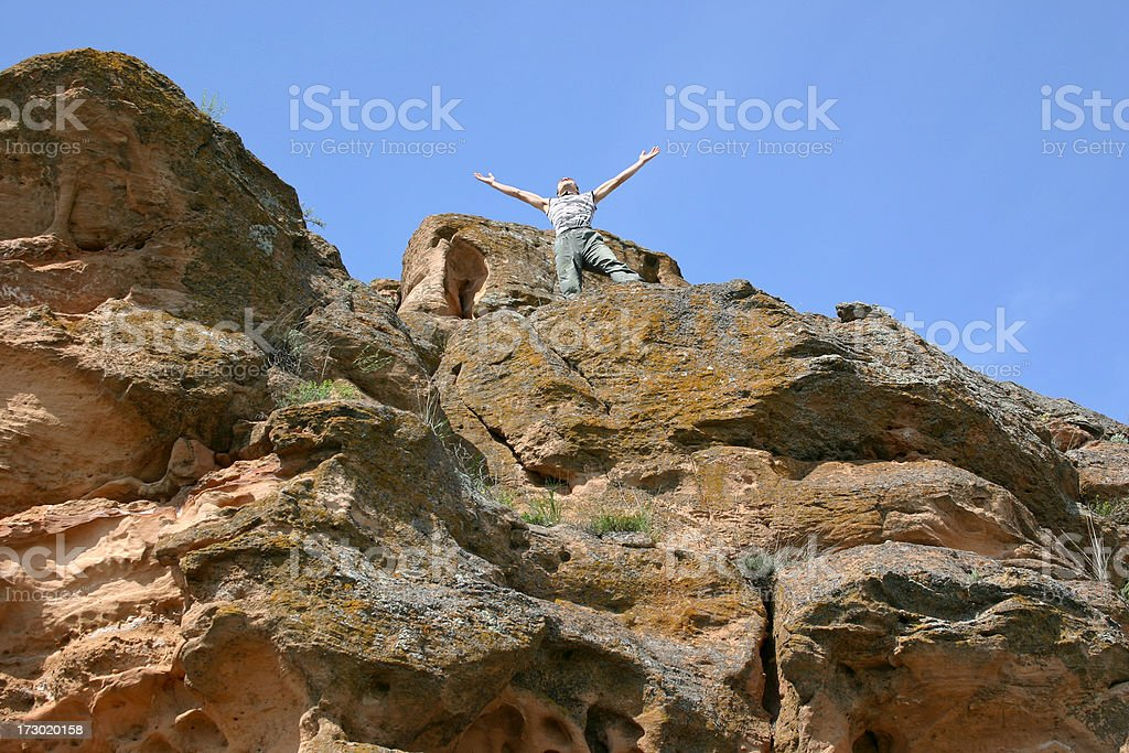 On the top of world royalty-free stock photo