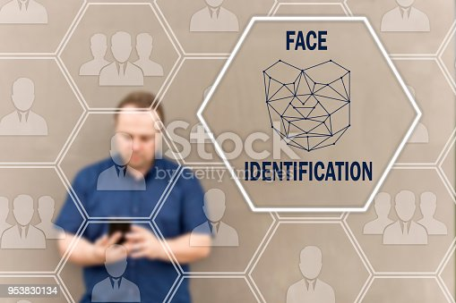 851960146istockphoto FACE IDENTIFICATION on the touch screen for log on to the network, on people blur background .Concept of Scanning ,facial recognition for security. Biometric verification, face recognition technology 953830134