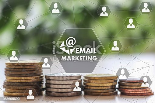 860524646istockphoto EMAIL MARKETING on the touch screen with a  blur financial background .The concept EMAIL MARKETING 935695690