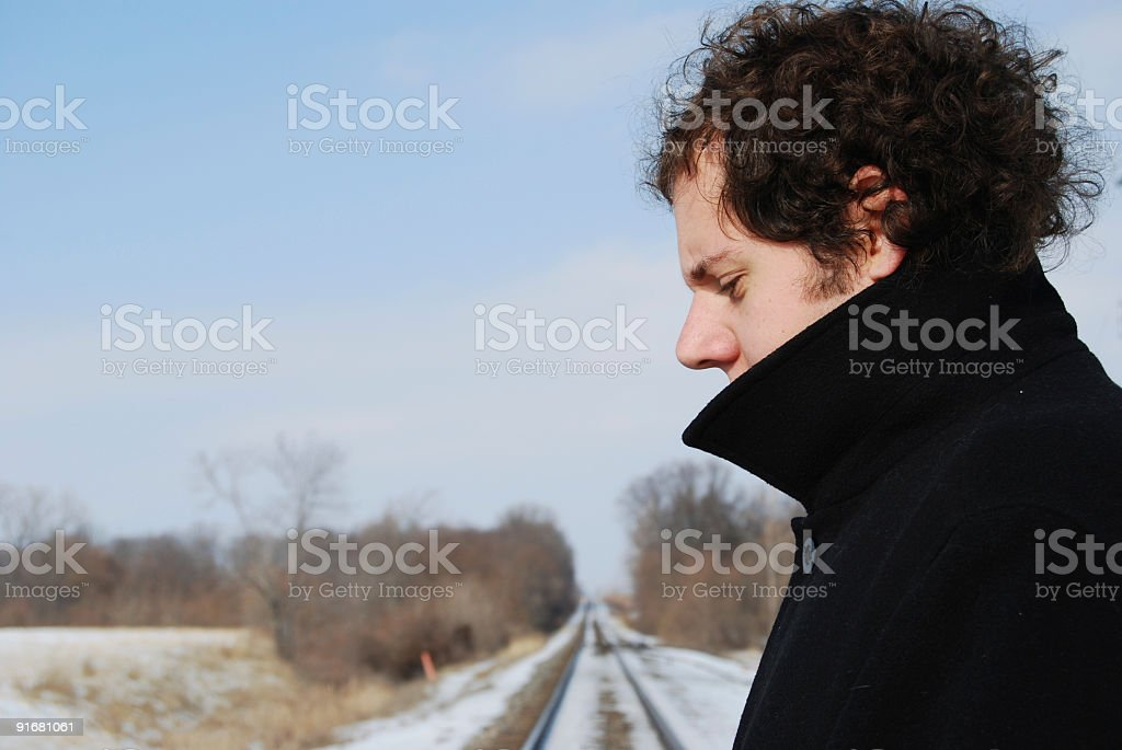 On the Tracks royalty-free stock photo