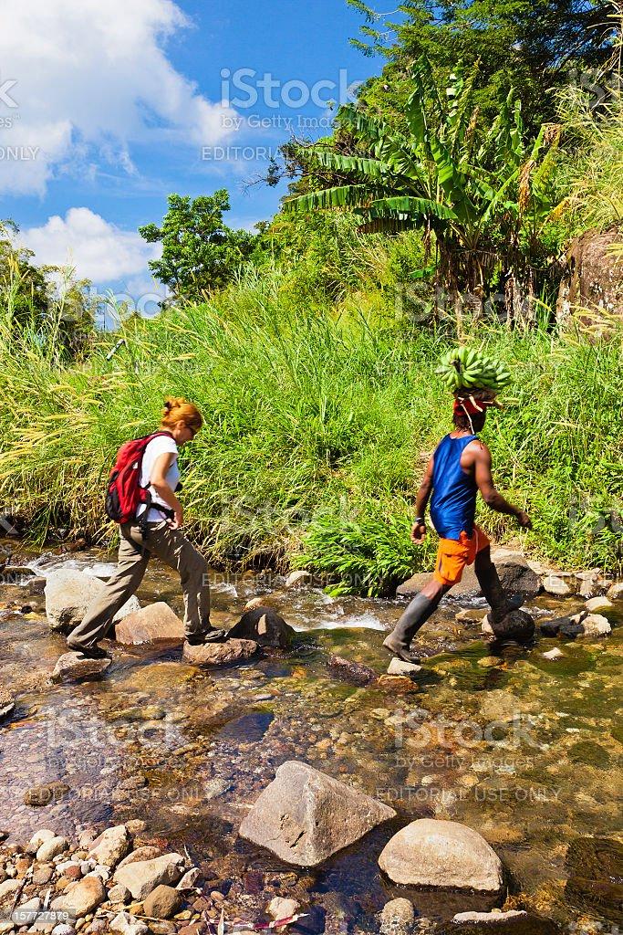 On the trail, Grenada W.I. royalty-free stock photo
