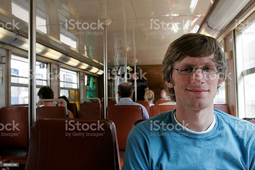 On the train royalty-free stock photo
