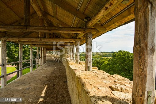 View from the wall of the fortress Izborsk on surrounding countryside