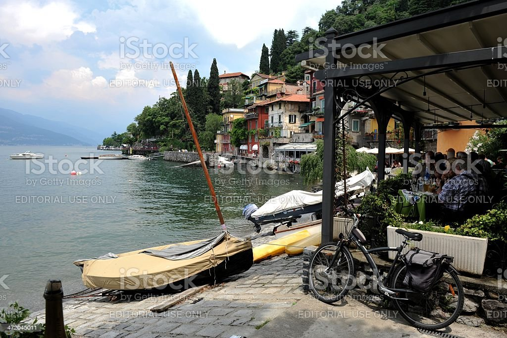 On the waterfront at Varenna stock photo