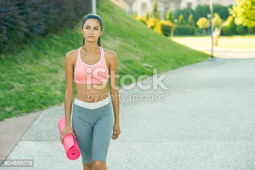 On the way to yoga class.