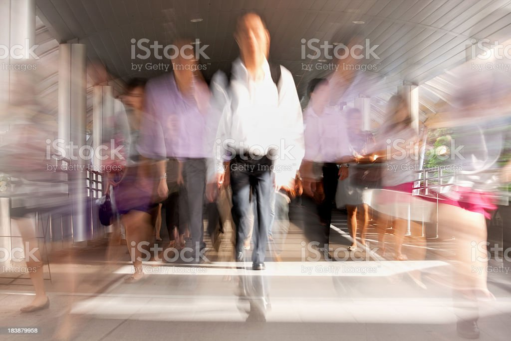 On the way to work during rush hour. royalty-free stock photo