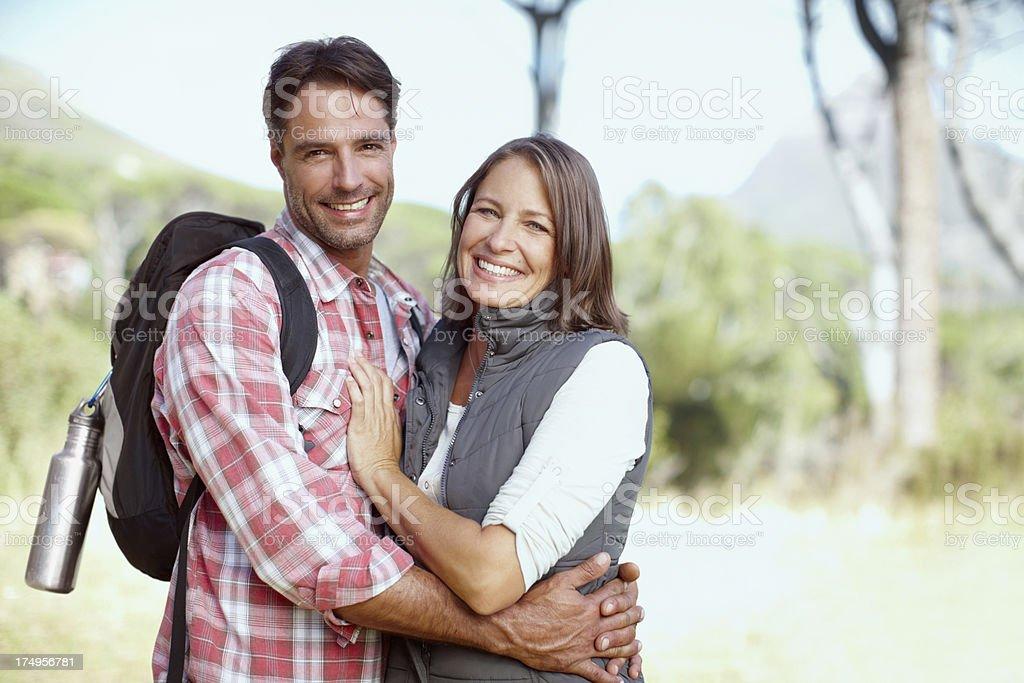 On their second honeymoon royalty-free stock photo