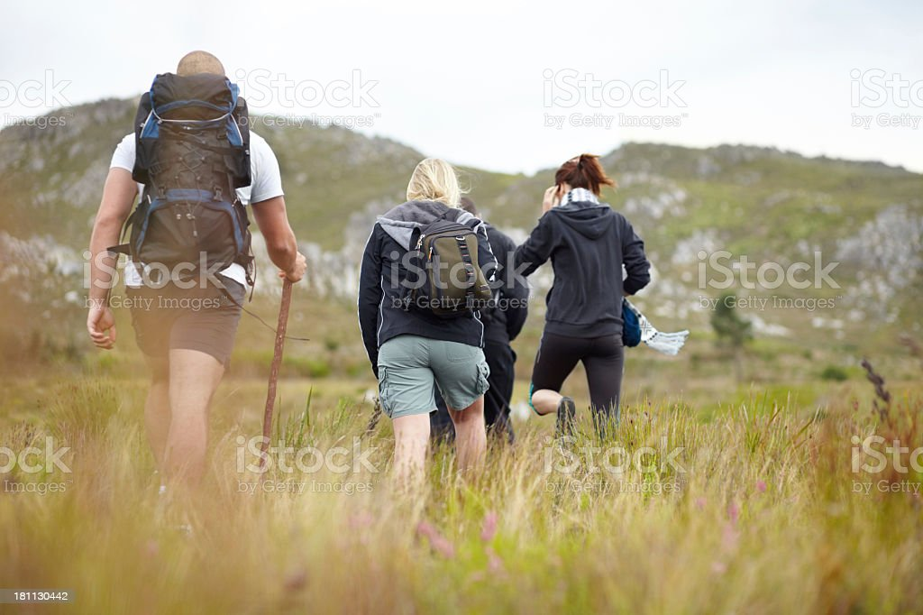 On their way to adventure royalty-free stock photo