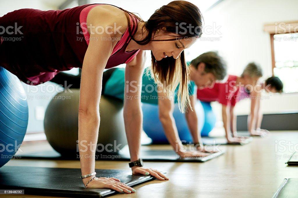 Auf Ihrem Weg zu den Körper Kraft und Flexibilität – Foto