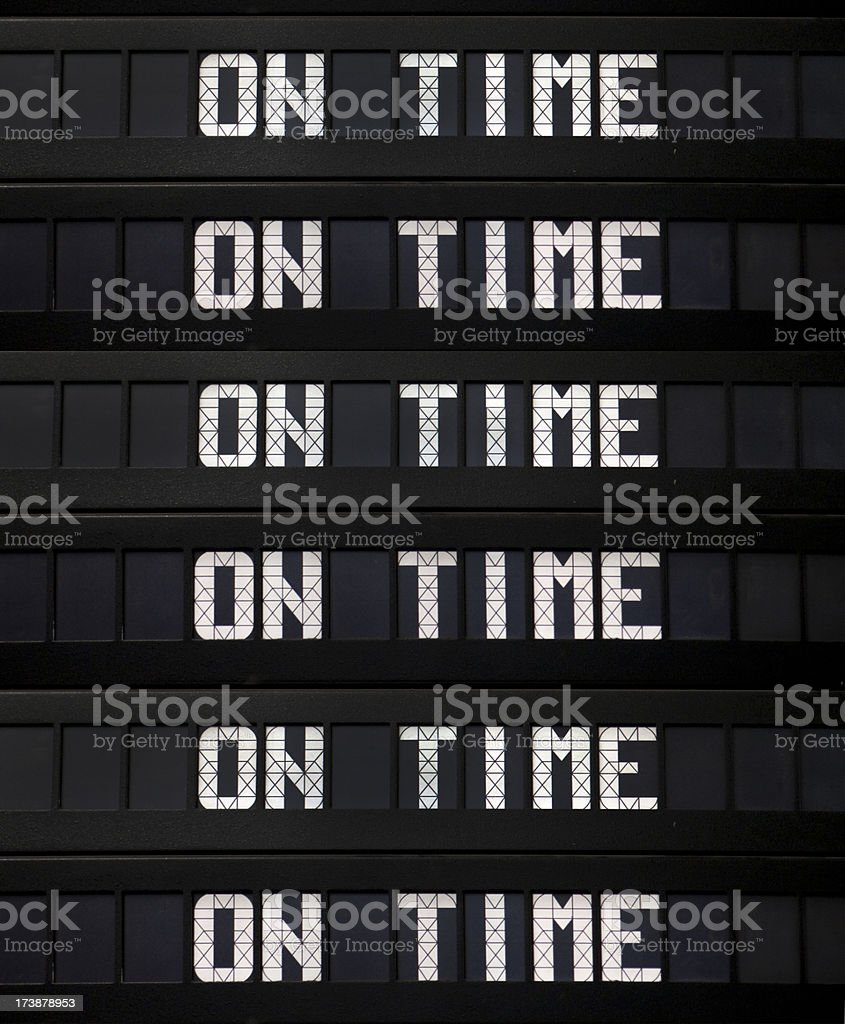 On Time Departure Board royalty-free stock photo
