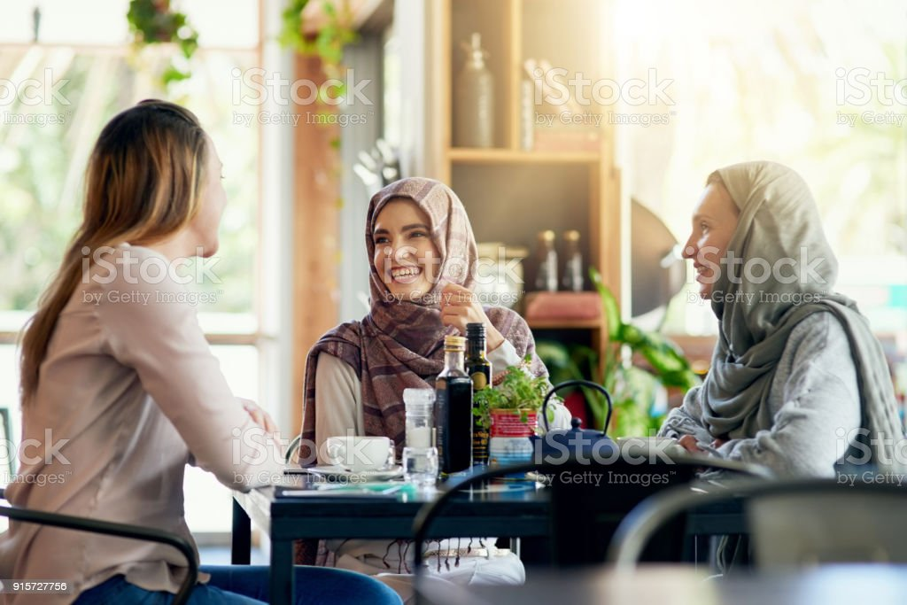 On today's menu: Good friends and good times stock photo