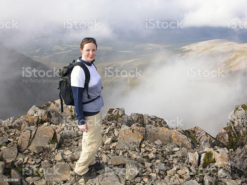 On top of Ben Nevis stock photo