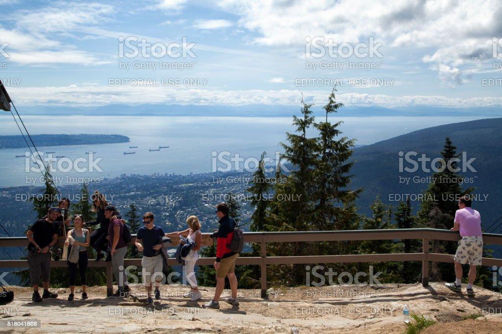 Auf Grouse Mountain, North Vancouver, Kanada – Foto