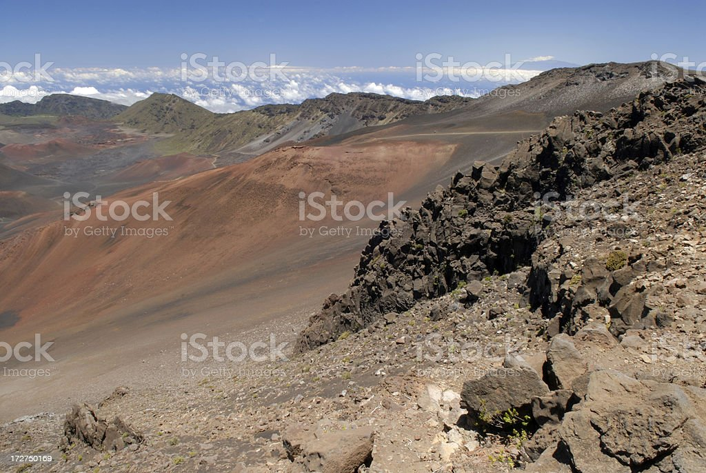 On Top of Haleakala National Park royalty-free stock photo