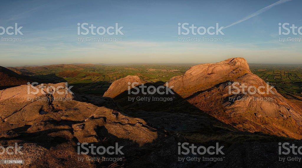...on top of Hen mountain... stock photo