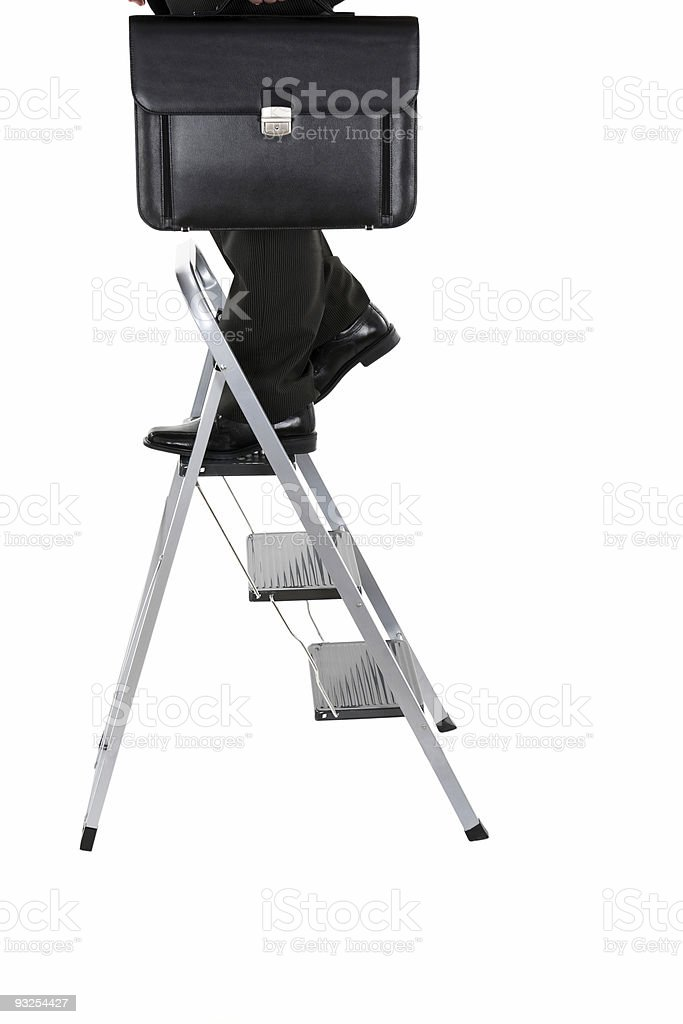 On Top of Job Ladder stock photo