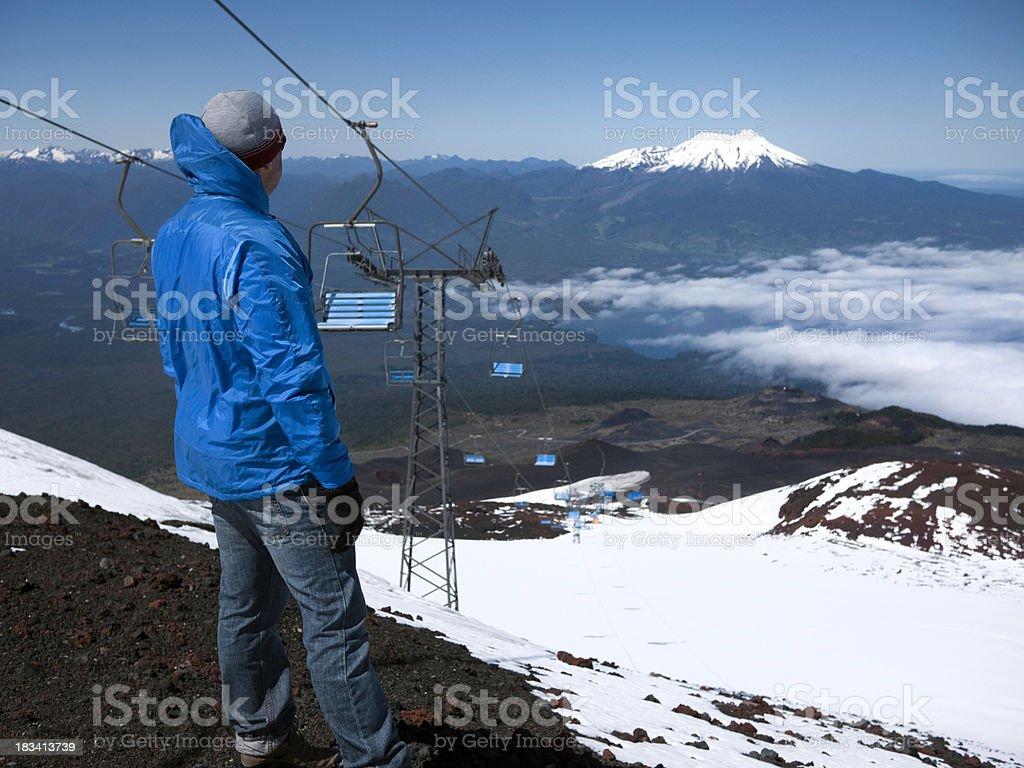 On top of Osorno Volcano, Chile. stock photo
