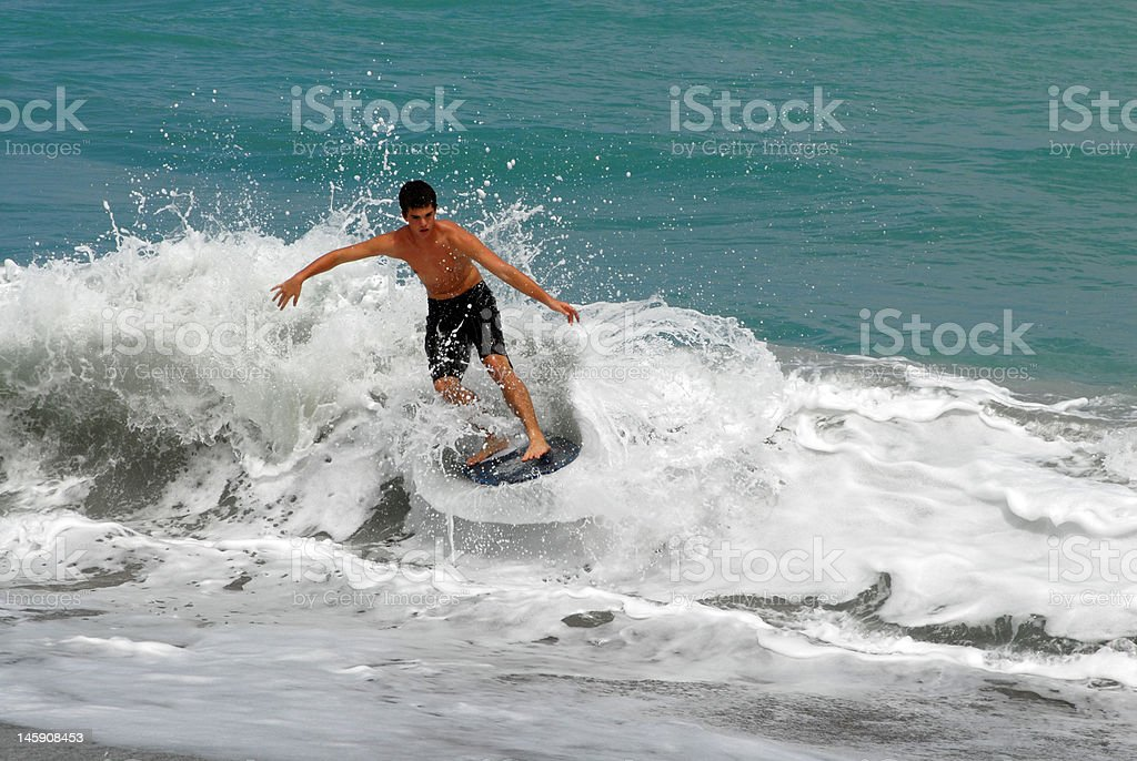 On top of the wave stock photo