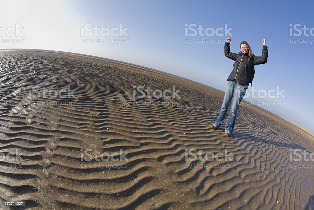 On top of the world. stock photo
