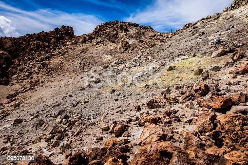 istock On top (El Pitón) of Volcano Mount El Teide, Teide National Park (Parque nacional del Teide), Tenerife, Canary Islands, Spain 1095078130