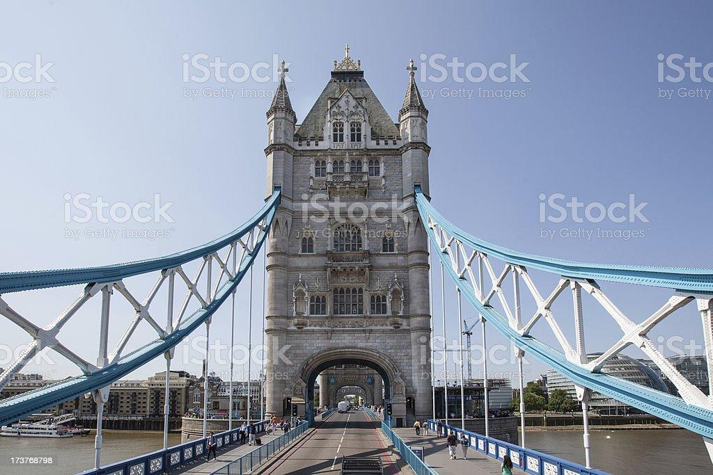 On Tower Bridge royalty-free stock photo