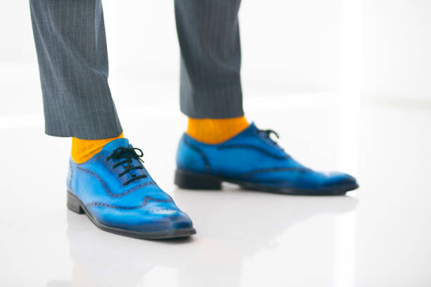 on trend - men shoes stock pictures, royalty-free photos & images