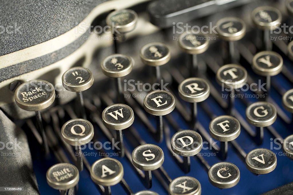 QWERTY on Typewriter Keyboard royalty-free stock photo