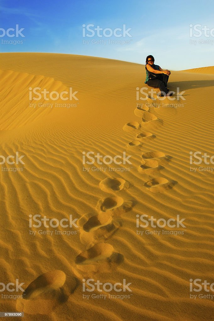 On Vacations in the desert royalty-free stock photo