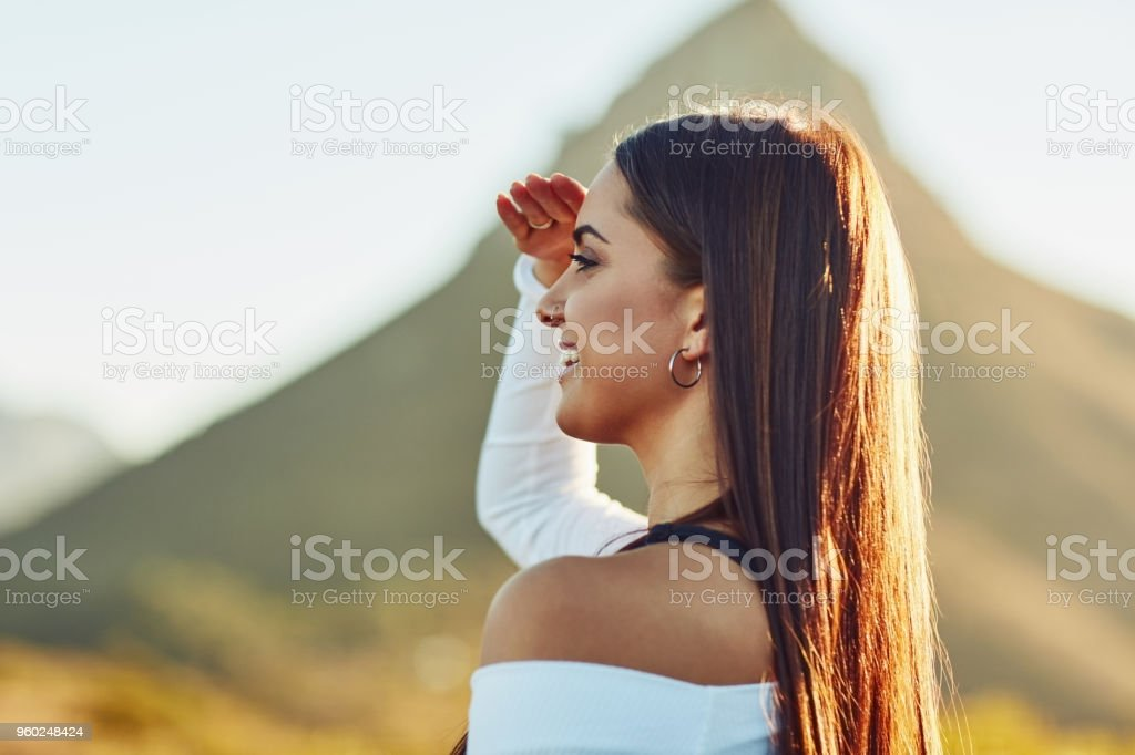 On your journey, never forget to enjoy the view stock photo