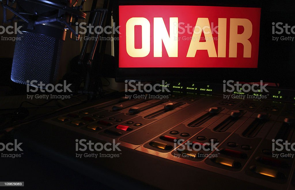 On-Air Radio Panel stock photo