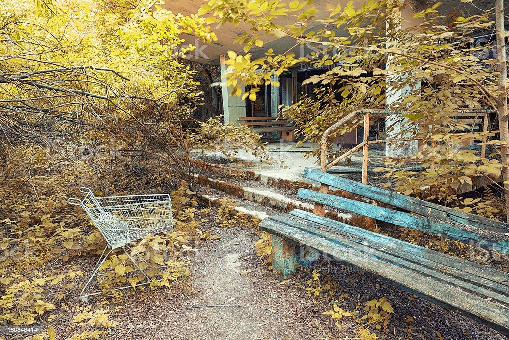 Once a Shopping Mall, Pripyat, Chernobyl, Ukraine royalty-free stock photo