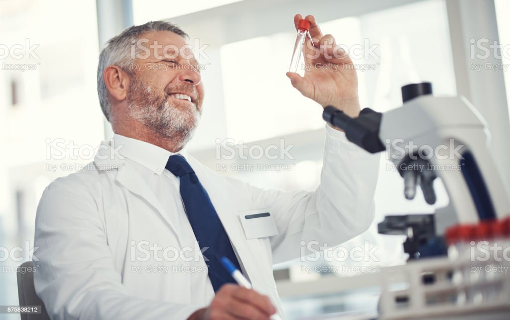 Once again science saves the day stock photo