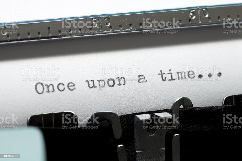 Once upon a time stock photo