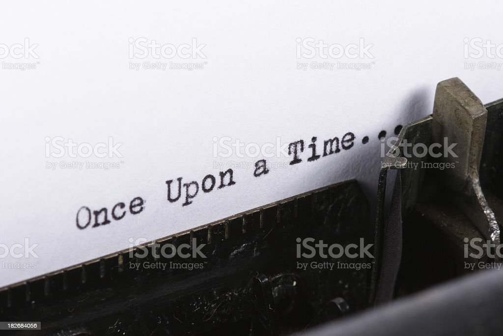 Once Upon a Time Series royalty-free stock photo