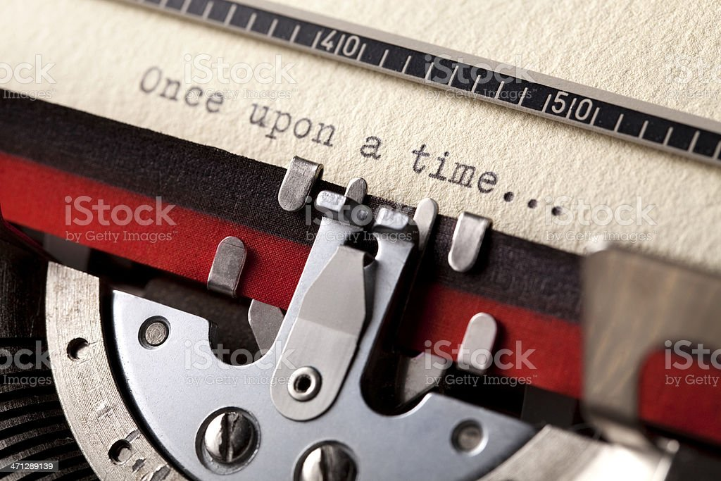 'Once upon a time' typed using an old typewriter royalty-free stock photo