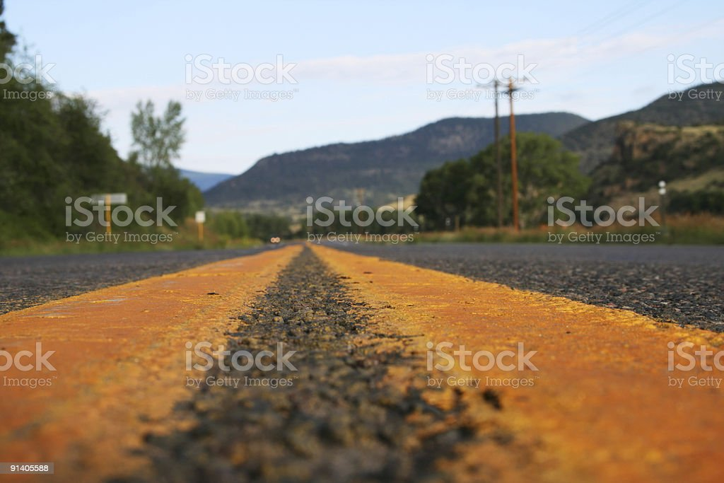 Oncoming Traffic stock photo