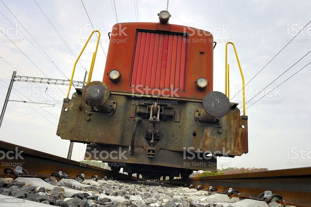Oncoming train royalty-free stock photo