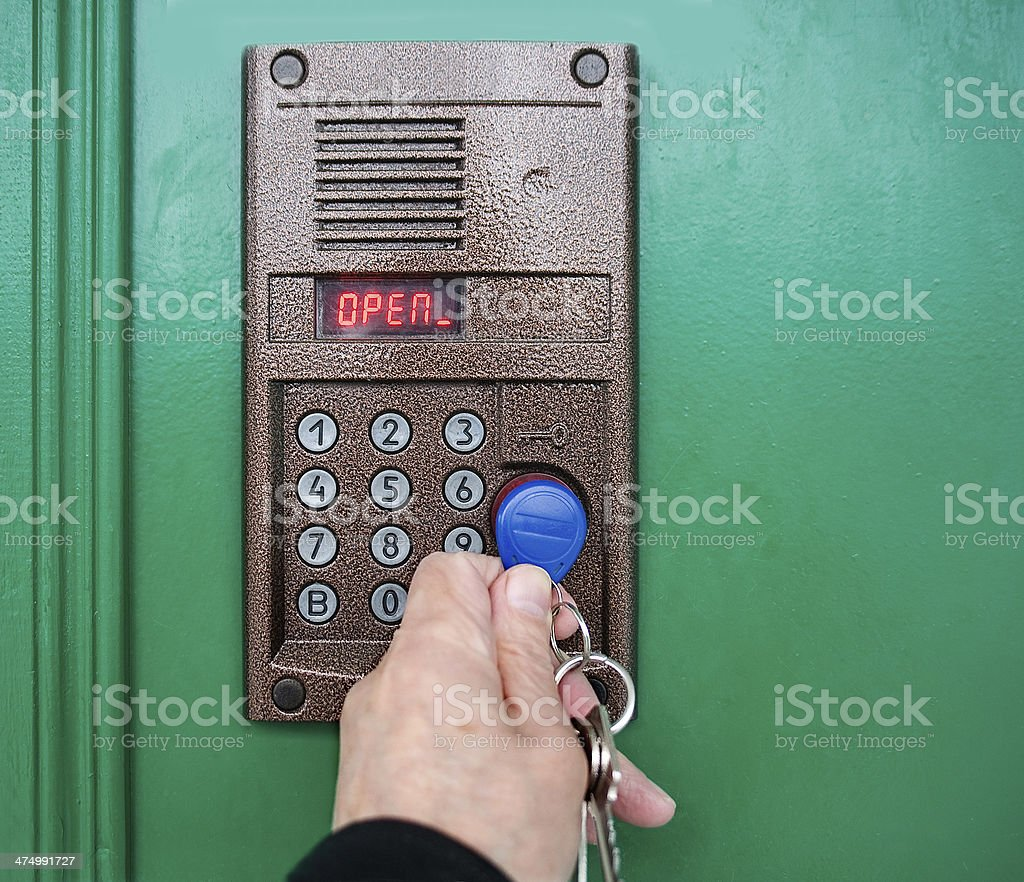 On-door speakerphone. stock photo