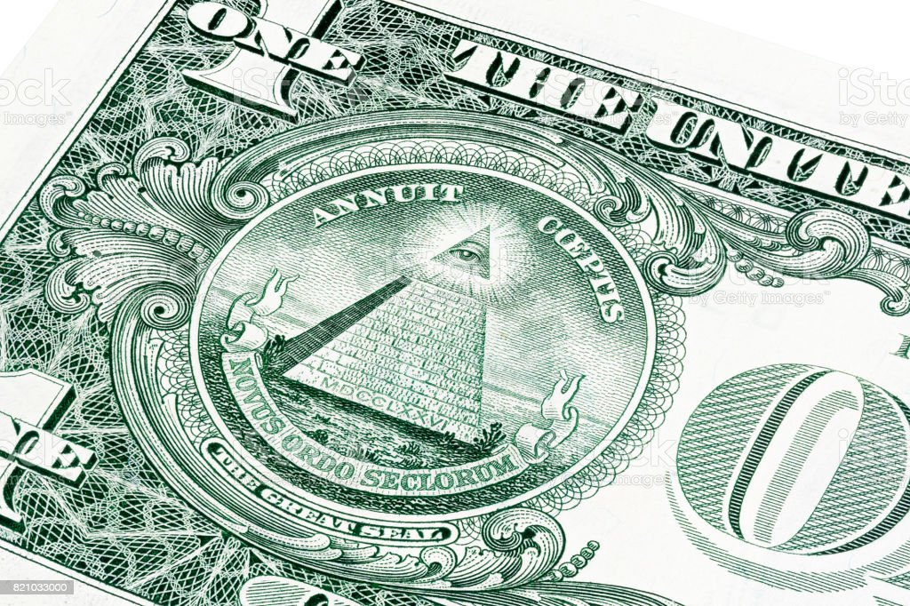 U.S. one 1 dollar bill in a close-up photo stock photo