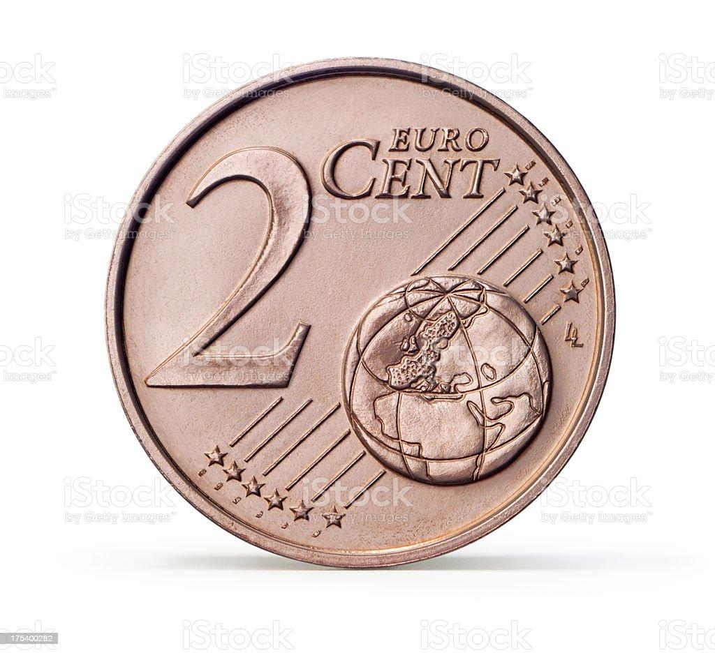 1 Und 2 Euro Centmünze Stock Fotografie Und Mehr Bilder Von