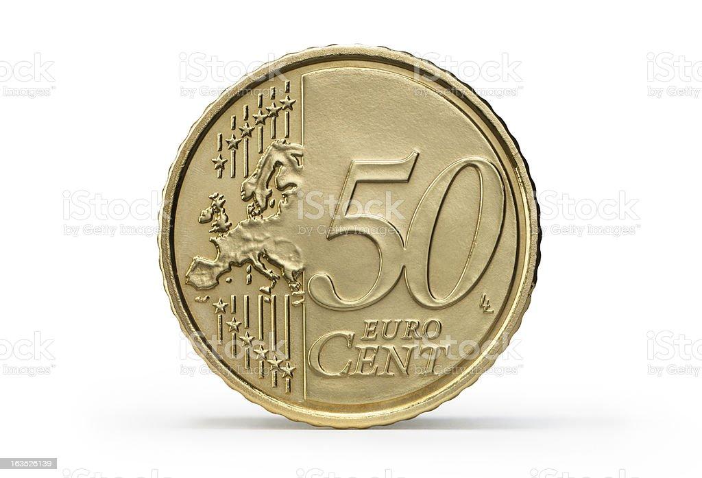 One 50 Euro Cent stock photo