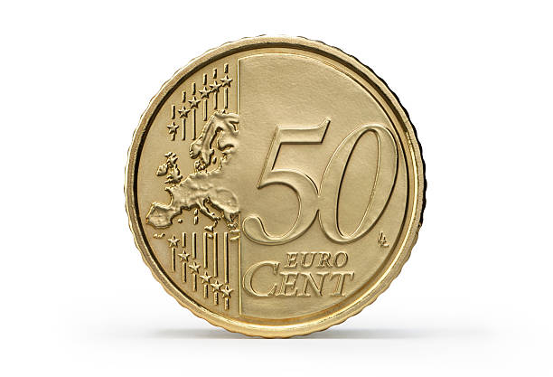 One 50 Euro Cent stock photo