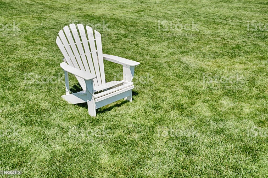 One Adirondack Chair stock photo