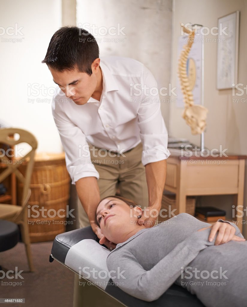 One adjustment can leave ripples of health in your body stock photo