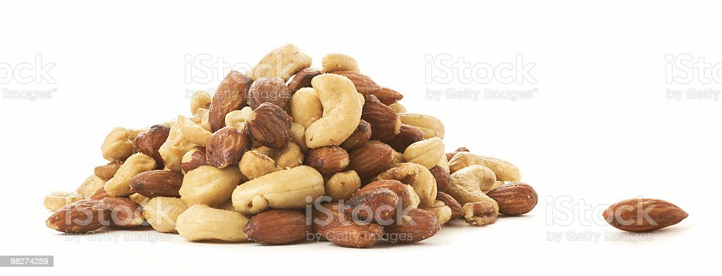 One Almond Apart stock photo