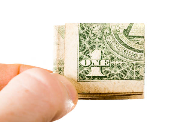 one American dollar stock photo