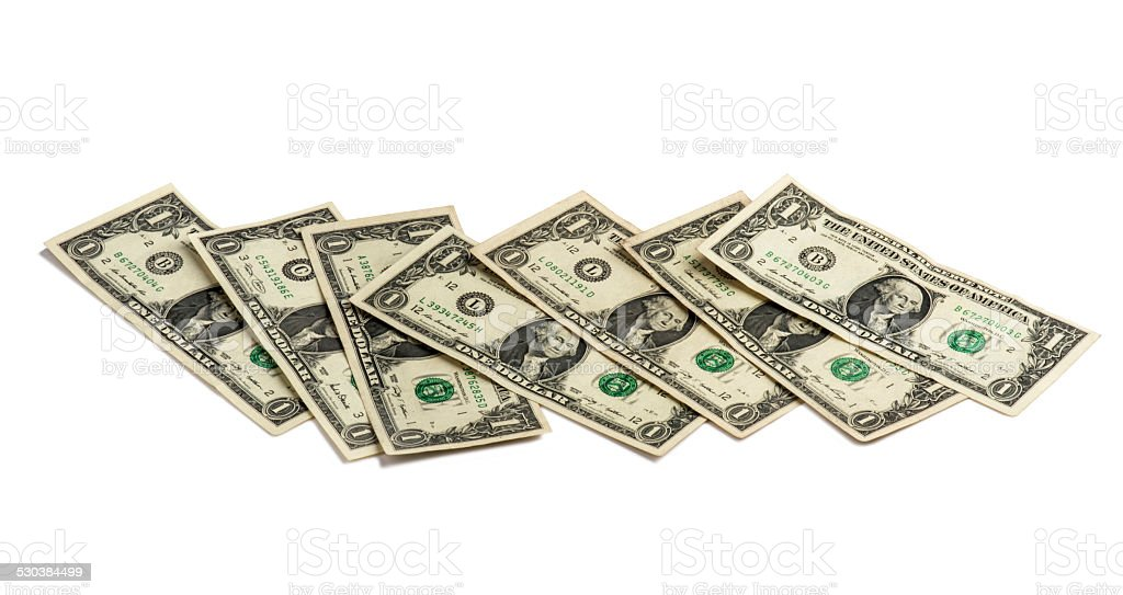 One American Dollars Bill stock photo